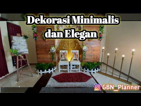 dekorasi akad nikah simple dan elegant | daily vlog - youtube
