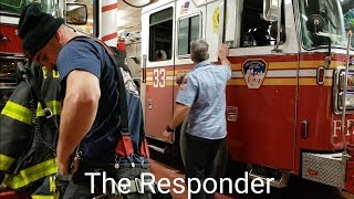 [FDNY] EVERYONE GOES - ENGINE 33 & TOWER LADDER 9 RESPOND TO A FIRE IN A RESIDENTIAL