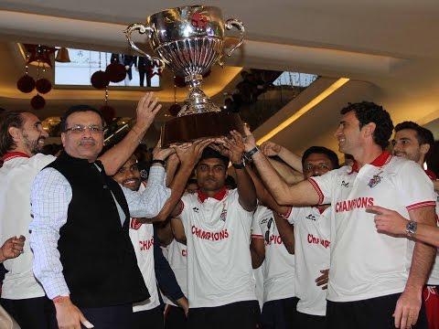 ISL 2016 Champions Atletico de Kolkata Receive Hero's Welcome at Home