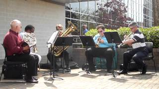 UNCW Brass Quintet at Cape Fear Community College - Song 1
