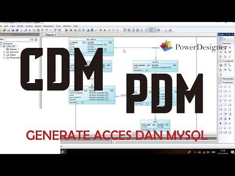 Merancang DataBase Hingga Mengeneratenya Ke Access Dan MySQL Menggunakan PowerDesigner