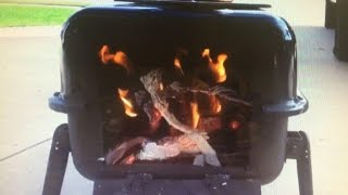 2/2 Diy Test Burn How To  Portable, Tent, Emergency, Wood Stove $40 Easy Project With Basic Tools.