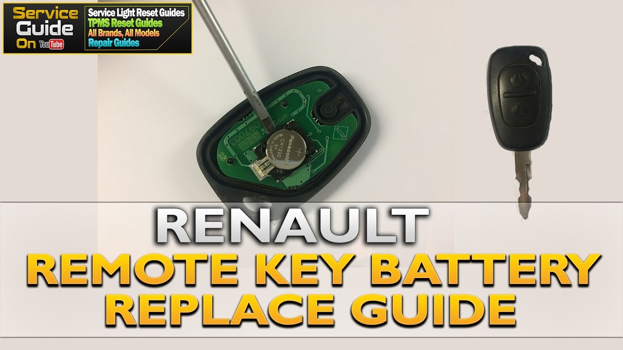 renault remote key fob battery change youtube. Black Bedroom Furniture Sets. Home Design Ideas