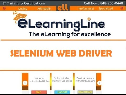 Selenium webdriver tutorial by ELearningLine @ 848-200-0448