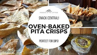BAKED PITA CRISPS | Perfect for Dips & Spreads