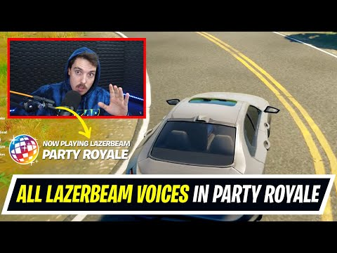 Lazarbeam Icon series soon? All Lazarbeam Voices in Fortnite Party Royale Radio