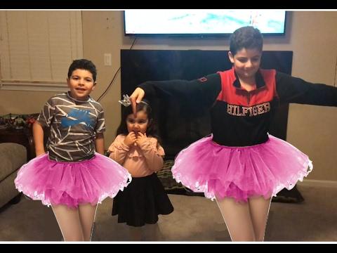 LITTLE GIRL TEACHES BOYS BALLET