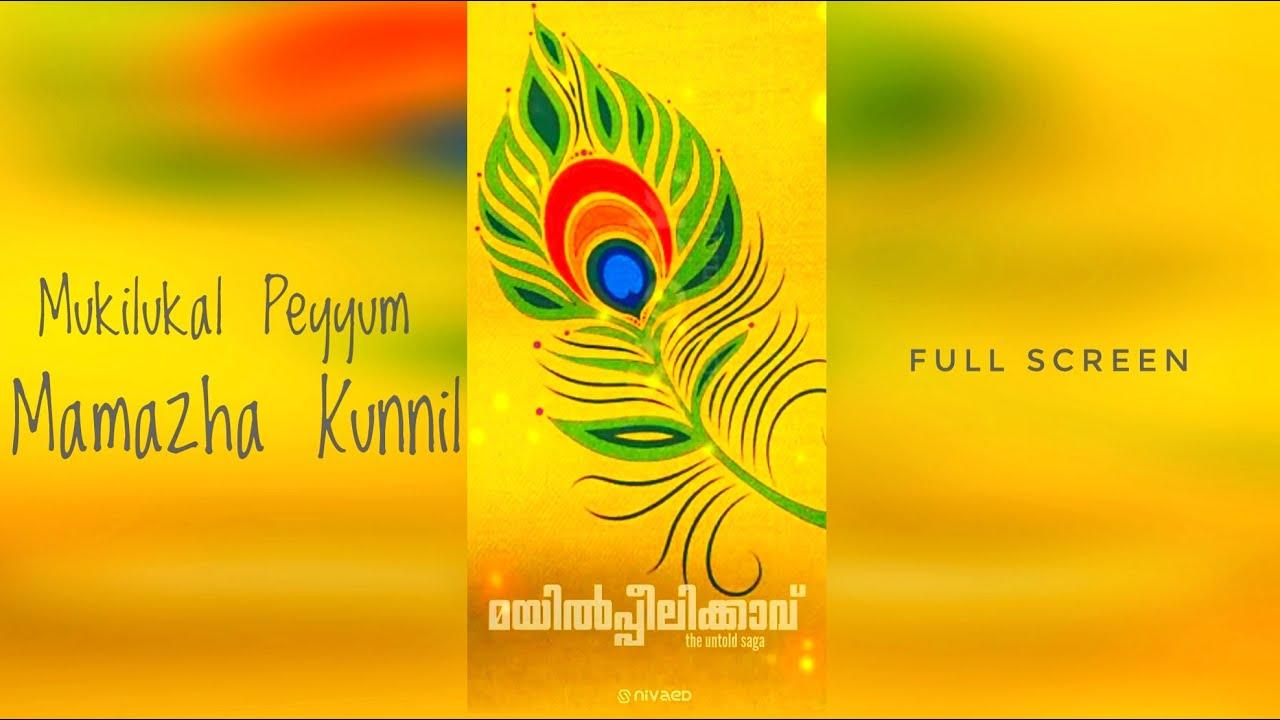 Mukil Meyum Mamazha Kunnil | Mayilpeelikkav Full Screen Status