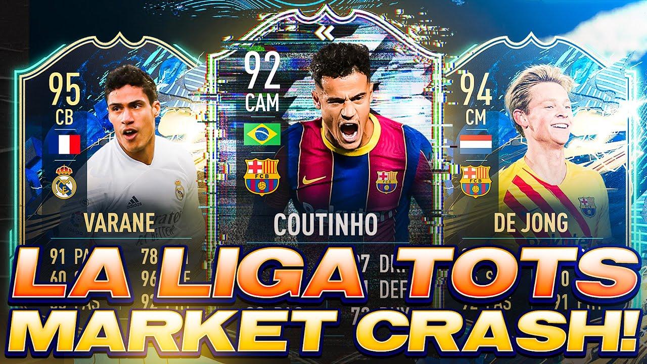 LA LIGA TOTS MARKET CRASH! UPGRADE SBC TODAY AND HUGE PROFITS! FIFA 21 Ultimate Team