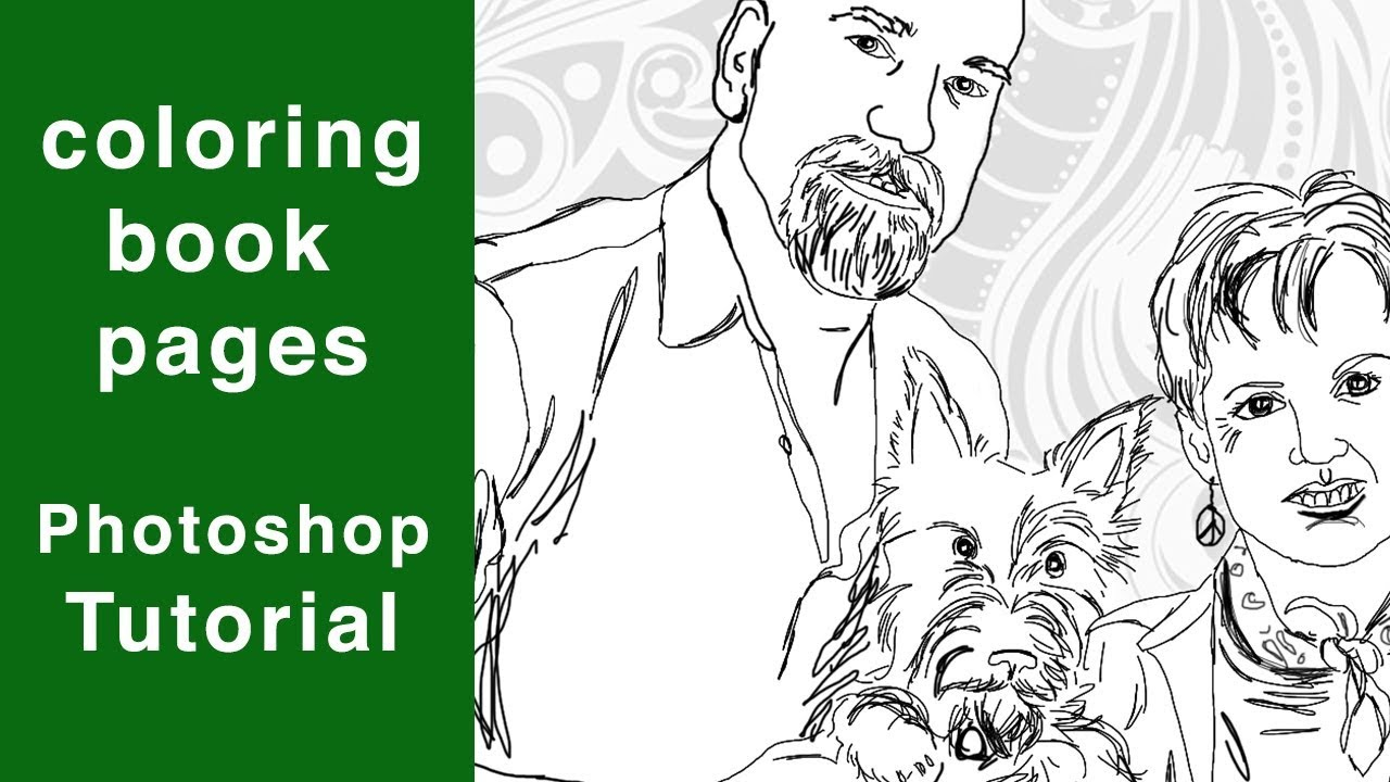 Photoshop Tutorial Coloring Book Pages / Tracing in PS
