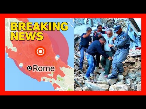 BREAKING: A 6.2 MAGNITUDE QUAKE JUST STRUCK NEAR ROME ITALY - 38 DEAD 150+ MISSING