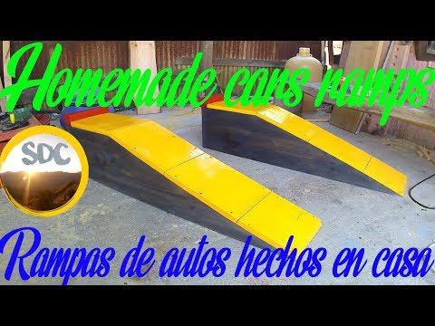 Homemade cars ramps/Rampas de autos hechos en casa