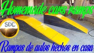 Homemade cars ramps/Rampas de autos hechos en casa