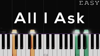 How to play all i ask on piano