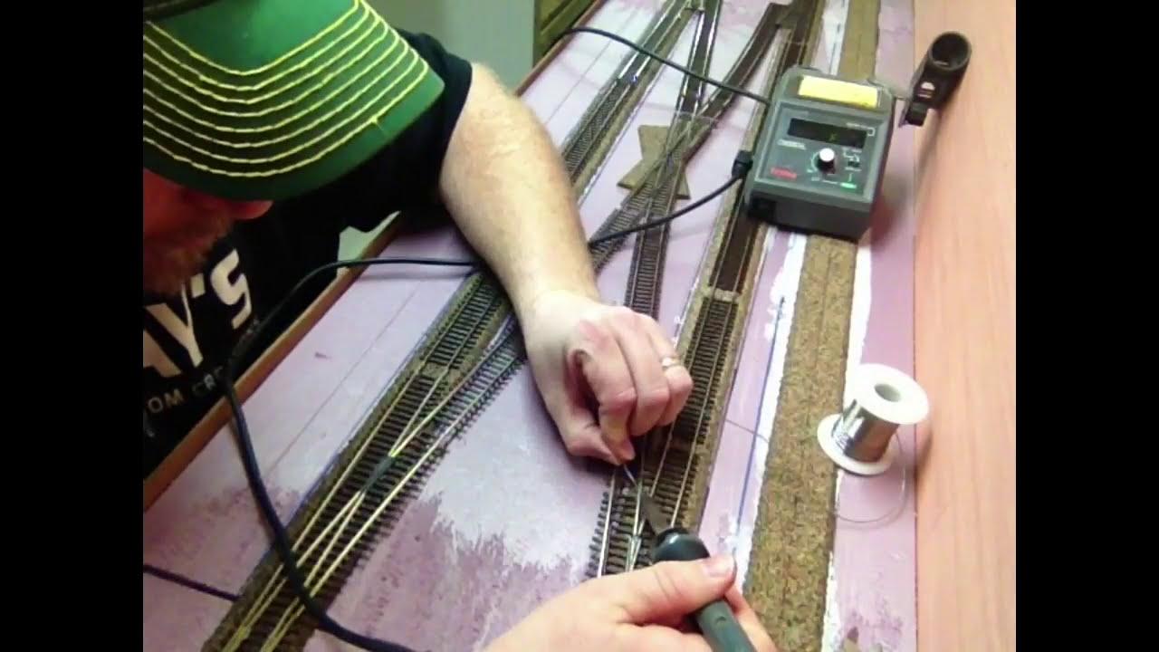 making an ho scale double crossover diamond ho scale model railroad