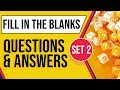 Fill in the Blanks with Questions & Answers Set 2, For SSC CGL, Bank PO & other Competitive Exams