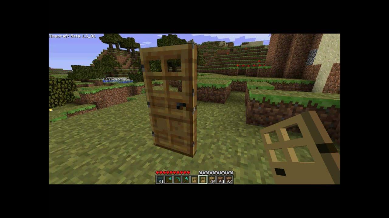Minecraft Oak Door : Minecraft how to make a wooden door youtube