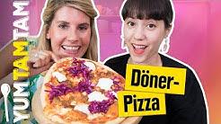 DÖNER + PIZZA = ❤️ // Döner-Pizza mit selbstgemachtem Dönerfleisch 🥙🍕 // #yumtamtam