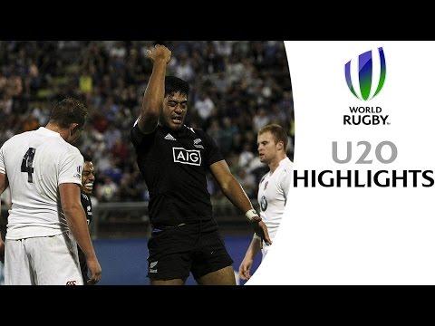 New Zealand 21-16 England - Highlights & Tries - World Rugby U20s final