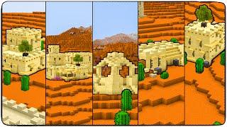 5 песчанных домов - Строим в майне