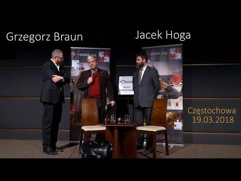Grzegorz Braun - Jacek Hoga 2018 Częstochowa