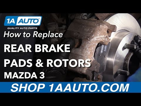 How to Replace Rear Brakes 06-13 Mazda 3