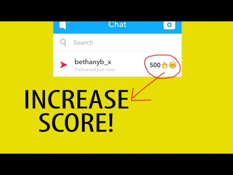 Does your snapchat score go up when you send a chat