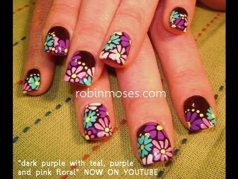 easy purple nail design nails