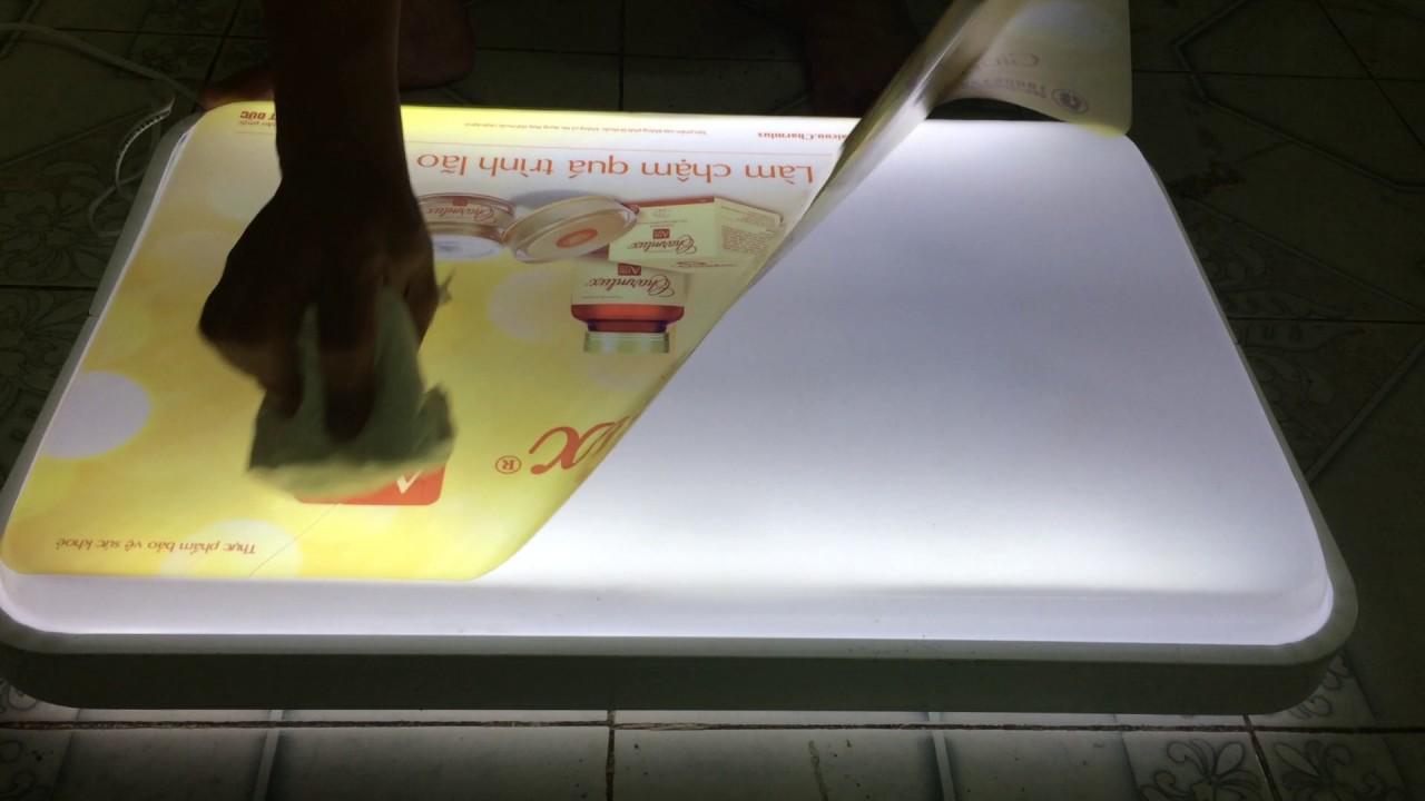 Hướng dẫn dán decal đèn LED Charmlux
