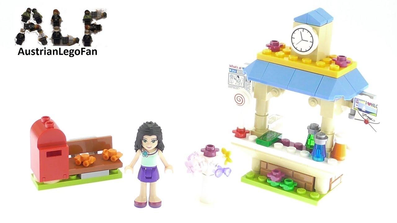 Lego Friends 41098 Emmas Tourist Kiosk Lego Speed Build Review