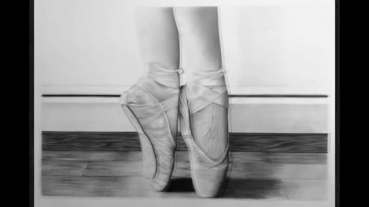 Dibujo Zapatillas De Ballet Youtube