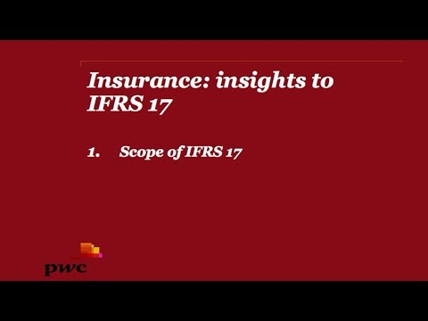 PwC's Insurance: insights to IFRS 17 - 1. Scope