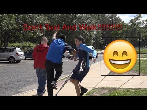 Walking and Texting Funny PSA with ZTS EXP and Juanoko