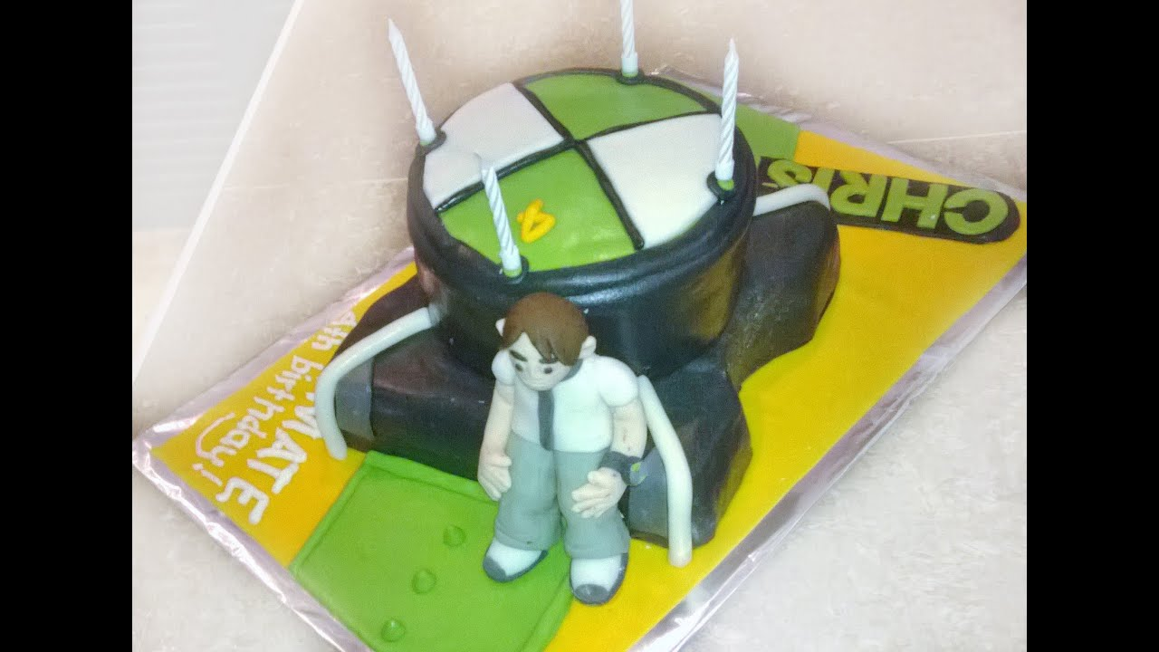 How To Make A Ben 10 Watch Birthday Cake Youtube