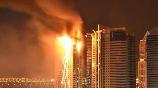 BREAKING: Fire Engulfs Dubai Skyscraper