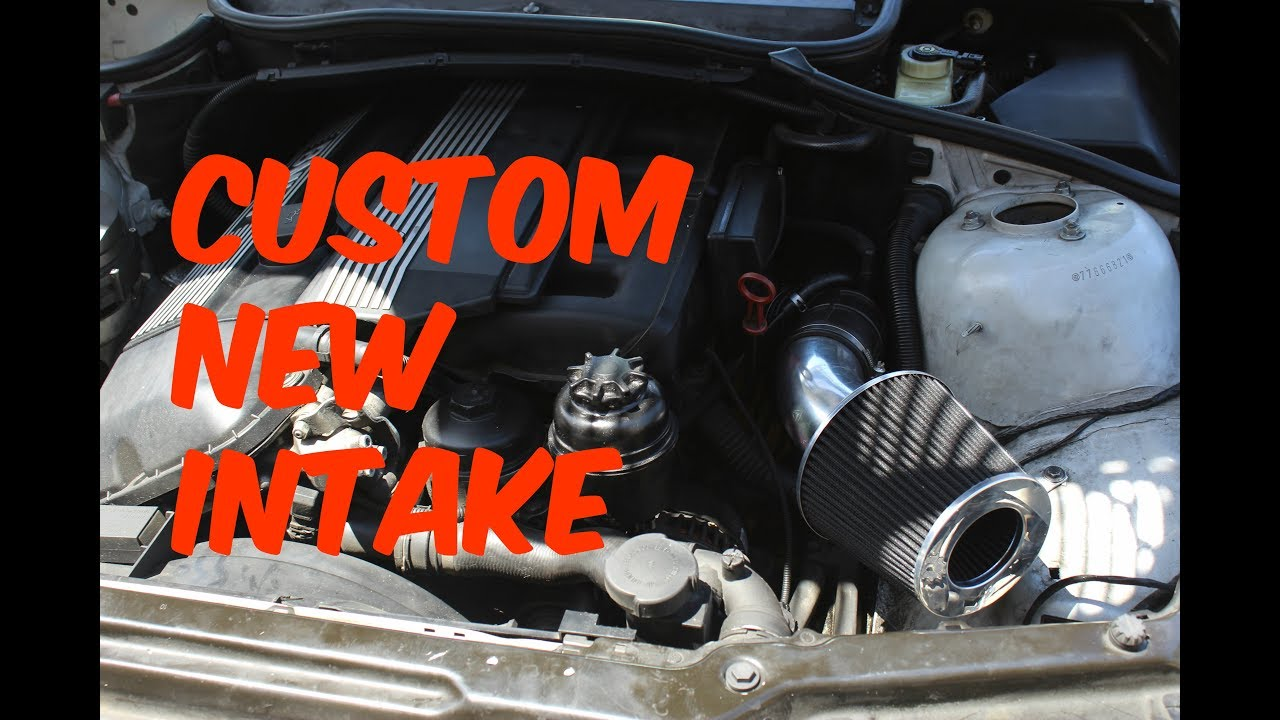 New Custom Intake Bmw E46 Before And After