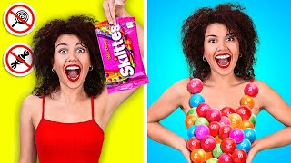 HOW TO SNEAK FOOD ANYWHERE || Funny Ways to Sneak Snacks by 123 GO Like!
