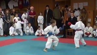 Григорий Шебанов 5 лет. Первые соревнования по каратэ (кумитэ)