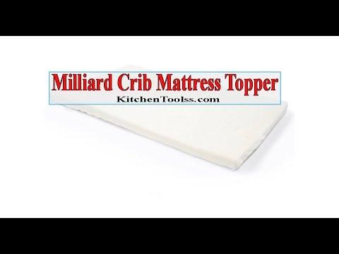 Milliard Memory Foam Crib Mattress Topper Youtube