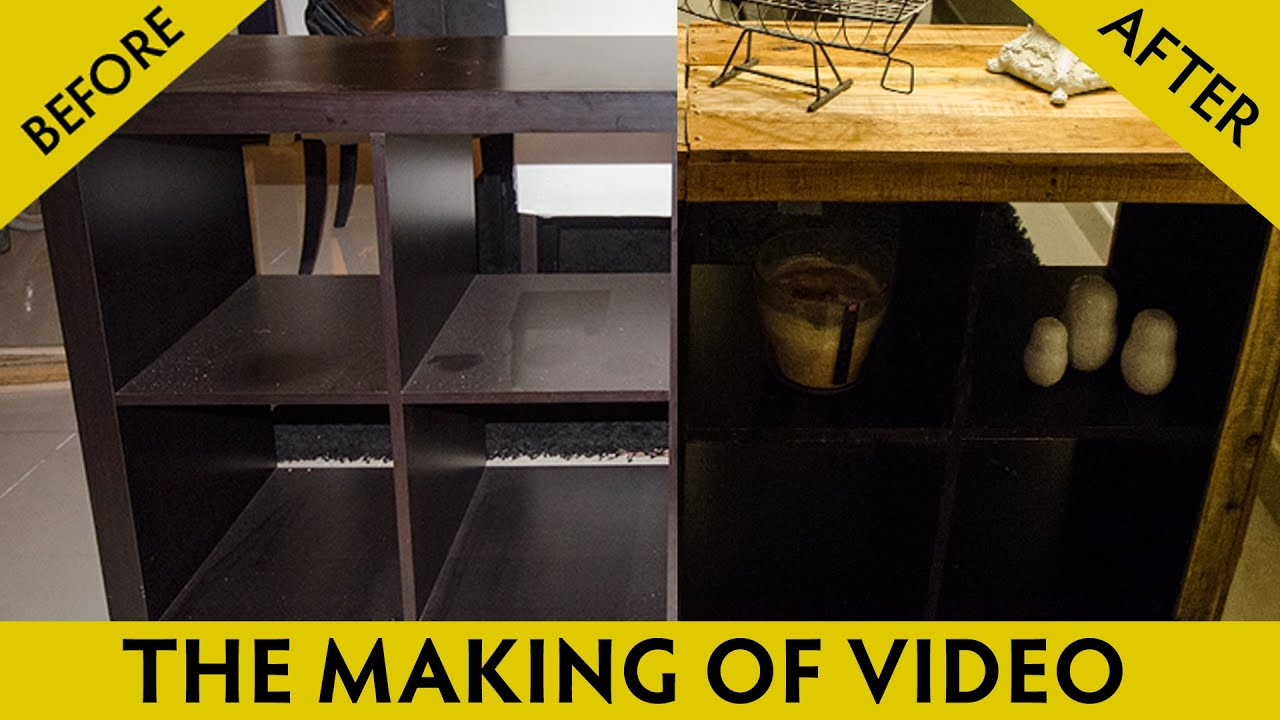 IKEA hack DIY furniture customizing reclaimed wood video - YouTube