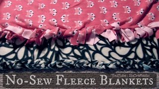 No Sew Fleece Blanket :: Easy DIY Tie Blankets Thumbnail