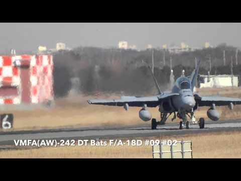 厚木基地の空-103  '14/01/11 (VMFA(AW)-242 DT Bats)