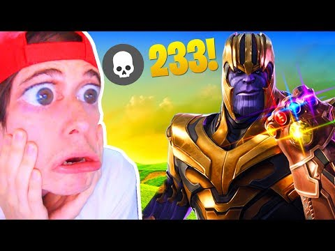 RECORD! 233 KILLS CON THANOS!! FORTNITE Battle Royale *EPIC FAILS*