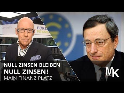 Nullzinsen - bleiben Nullzinsen! - Main Finanz Platz - 08.09.2017