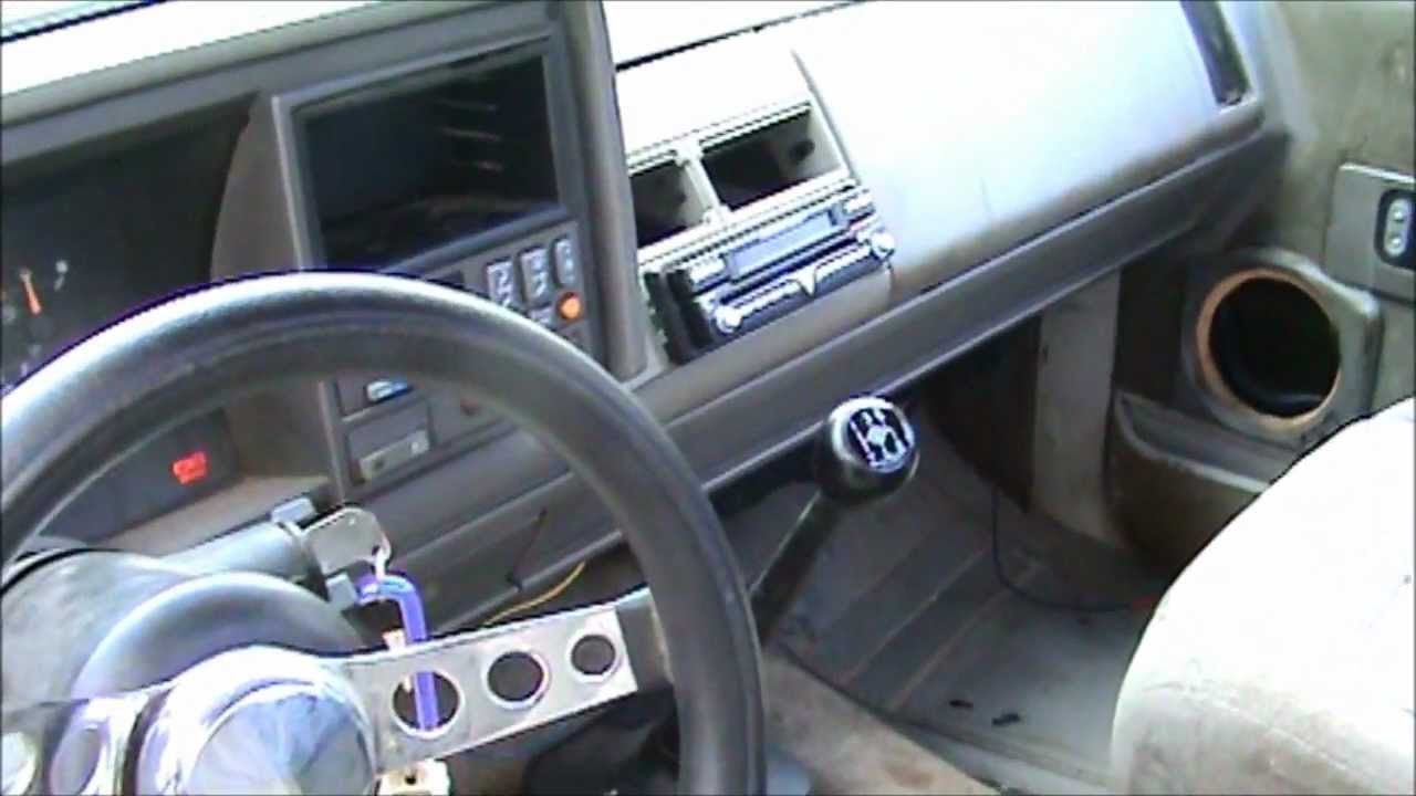 93 Silverado Stepside Before Custom Interior Youtube