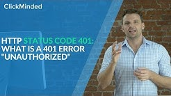 """HTTP Status Code 401: What Is a 401 Error """"Unauthorized"""" Response Code?"""