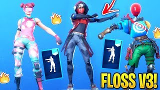 Fortnite *NEW* Windmill Floss Emote With Leaked Skins! (Floss V3!)