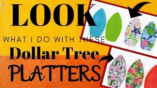 LOOK what I do with these Dollar Tree PLATTERS | EASY DOLLAR TREE DIY