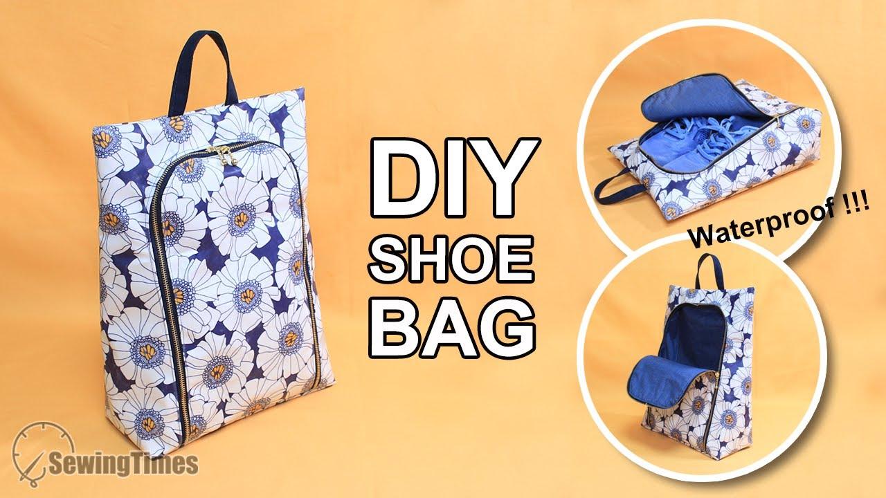 DIY Bolsa de zapatos impermeable Patrones gratis