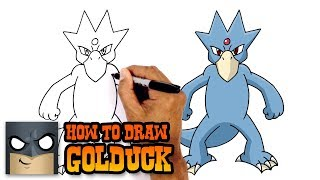 How to Draw Golduck | Pokemon